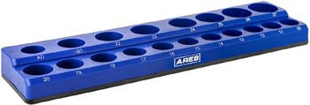 6. ARES 60010 - Blue 19-Piece 1/2-Inch Metric Magnetic Socket Organizer