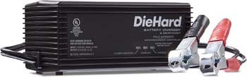 6. DieHard 71219 2 Amp 6/12V Shelf Smart Battery Charger