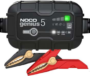 5. NOCO GENIUS5, 5-Amp Fully-Automatic Smart Charger