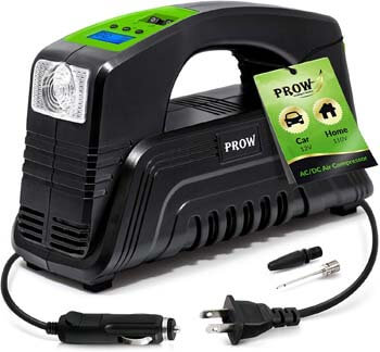 9. Prow electric Air Compressor Tire Inflator AC/DC Portable for Car