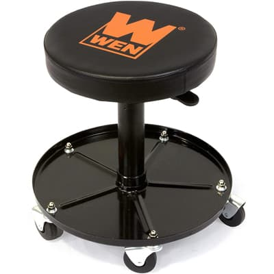 WEN 73012 Pneumatic Rolling Mechanic Stool Seat