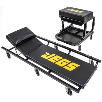 JEGS 81150 Creeper & Mechanic Seat Set Best Mechanic Creeper
